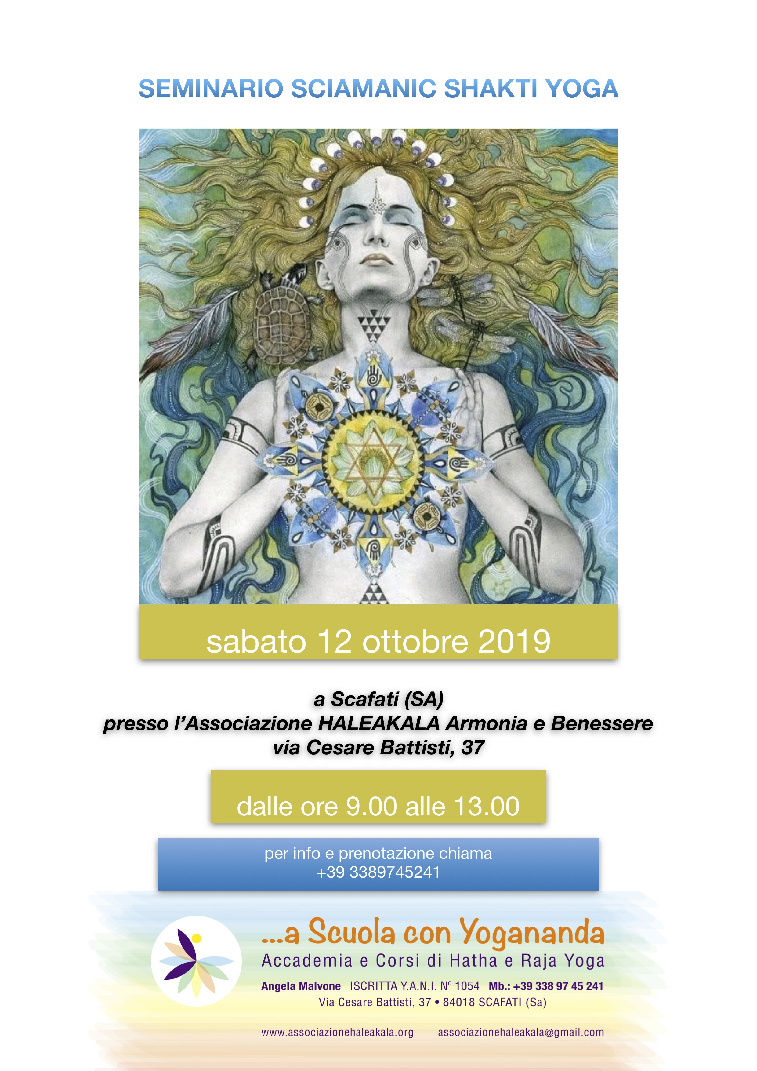 locandina sciamanic shakti yoga ott 2019