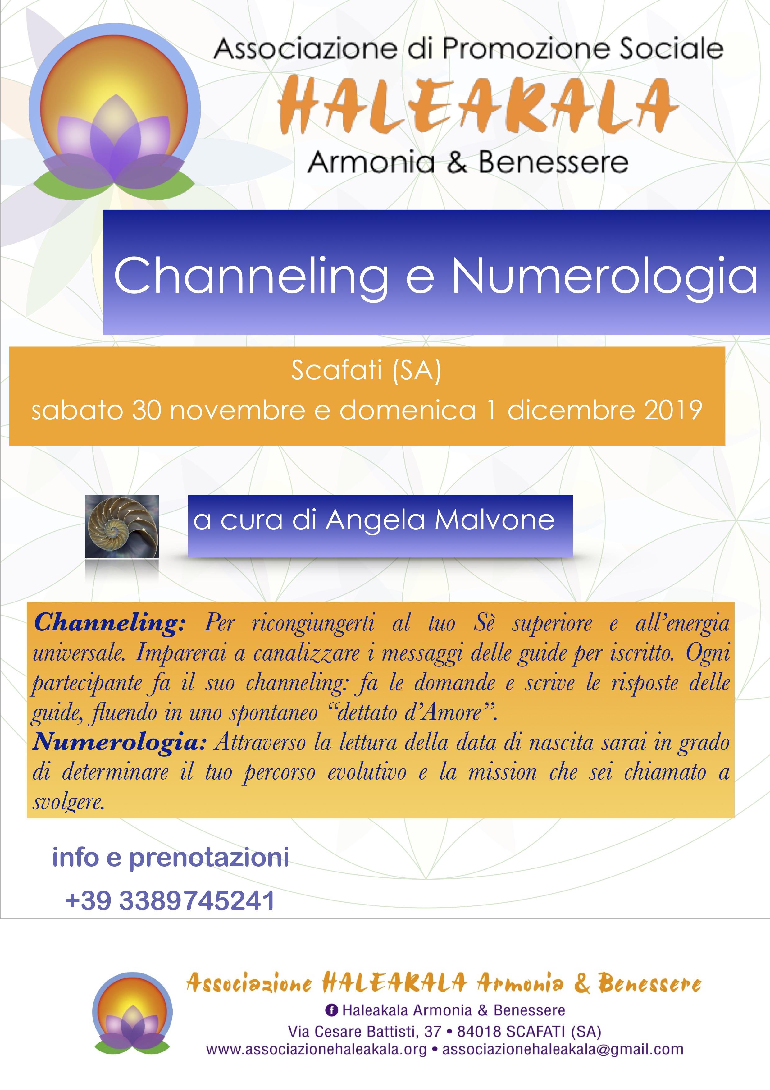 locandina channeling e numerologia 2019
