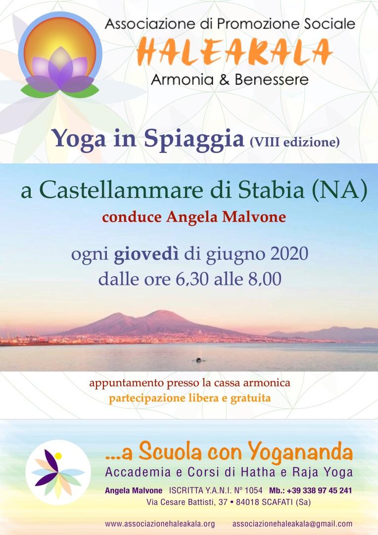 locandina yoga all'aperto 2020