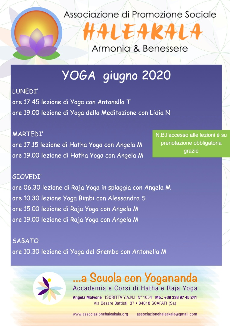 locandina yoga giugno 2020
